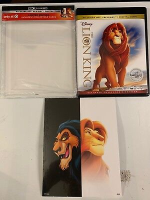 The Lion King 4K Ultra Hd Blu Ray 2 Disc Clear Slipcover Target Exclusive Cards
