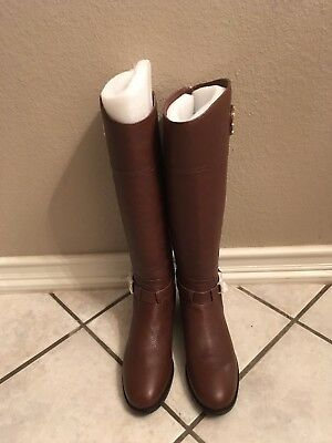 6fbf4505347 TORY BURCH ADELINE Almond Color Leather Riding Boots Women Size 10 ...