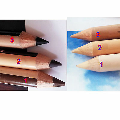 12 in 1 Double Head Eyeliner Eyebrow Pencil SET Make up Tool Concealer Function