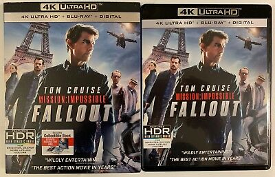 Mission Impossible Fallout 4K Ultra Hd Blu Ray 3 Disc Set Slipcover Sleeve Book