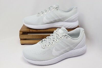 03f9f658ed0a NIKE LUNARGLIDE 9 Running Shoes Platinum White Gray 904715-003 Men s ...