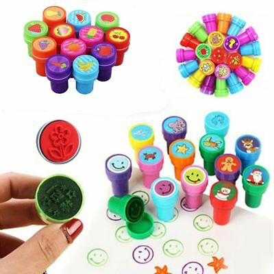 Hot 10PCS Self-ink Rubber Stamps Kids Party Event Supplies Birthday Gift Toy Boy
