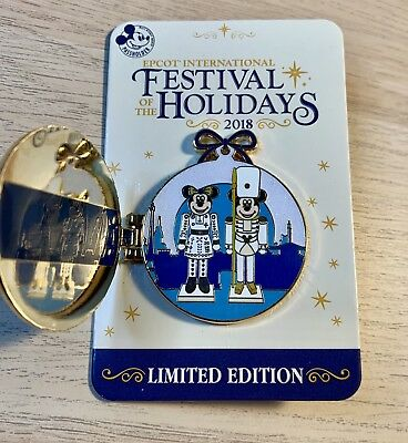 Disney EPCOT Festival of the Holidays 2018 Passholder LE 1500 Pin Mickey Mouse