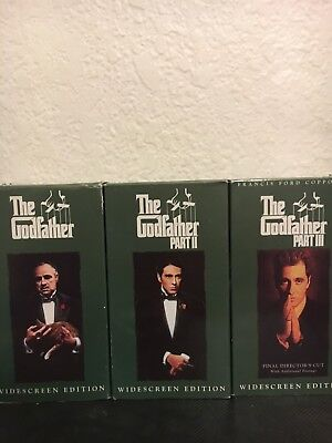 The Godfather Collection Part I II III 1 2 3 [ VHS, 1992, 6-Tape Box Set ]