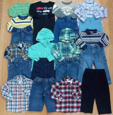 Baby Boy Size 24 Months 2T Fall Winter Mixed & Match Clothes Lot!
