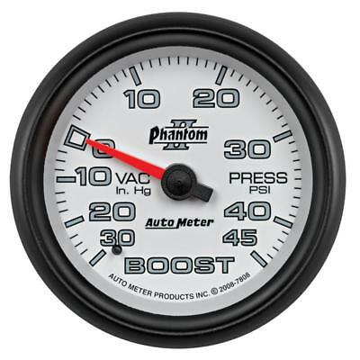Autometer Phantom II 2-5/8in 30INHG-45PSI Phantom Mechanical Boost/Vacuum Gauge