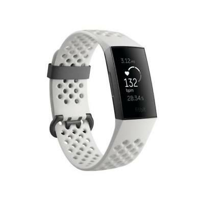 White-New Fitbit Charge 3 Fitness Activity Tracker -Touchscreen, Swim Proof, NFC