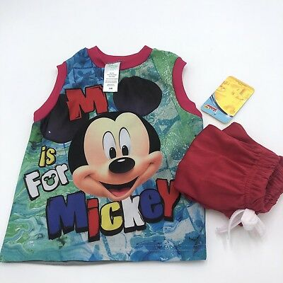 M Is For Mickey Jersey 12 Months Comes With Matching Shorts