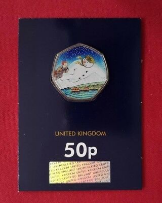 Snowman 50p Royal Mint 40th Anniversary Coin, Selling Fast, Colour Decal Applied