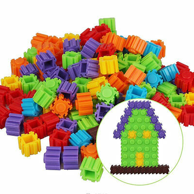 200Pcs Plastic Children Kids Puzzle Building Blocks Bricks Educational Toy VJ