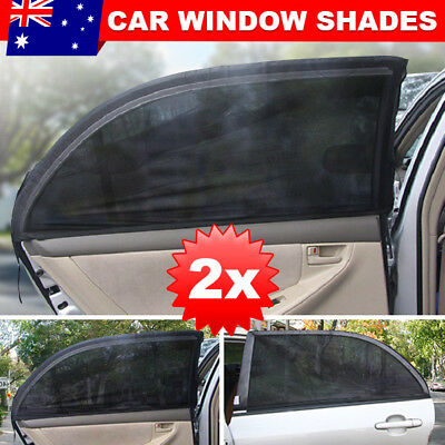 2x Universal Sun Shades Rear Side Seat Car Window Baby Kids UV Protection JD