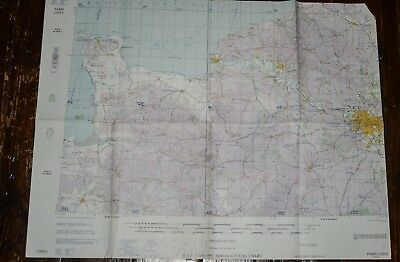 PARIS FRANCE 1957 RAF Aeronautical Flight Plan Chart Map