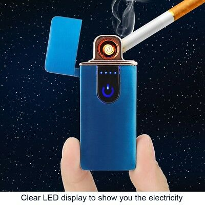 Touch Sensor USB Electric Rechargeable Flameless Windproof Cigarette Lighter