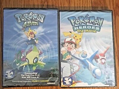 Pokemon - Heroes: The Movie + Pokemon 4Ever, DVD Set, Family Approved