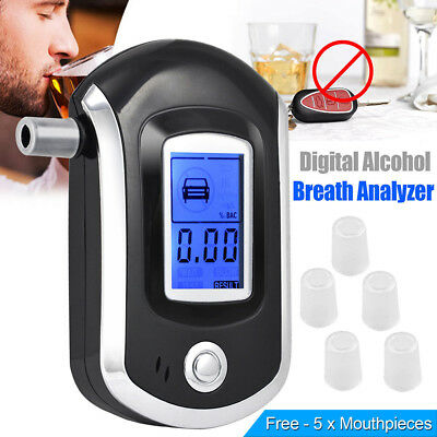 UK Digital LCD Police Breathalyzer Breath Test Alcohol Tester Analyzer Detector