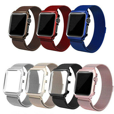 For Apple iWatch Series 4/3/2/1 Milanese Magnetic Loop Steel Band Strap
