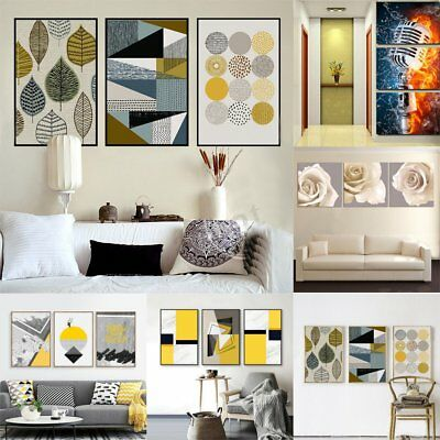 3Pcs Set Modern Canvas Print Painting Wall Art Picture Home Decoration Unframed