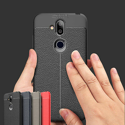 For Nokia 8.1 /Nokia X7, Anti-Skid Shockproof Soft TPU Rubber Leather Cover Case
