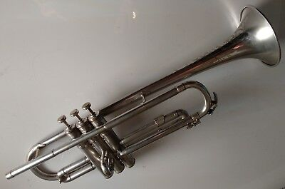 Silver Trumpet - Dixie Music House Chicago - Paragon - great player - engraved