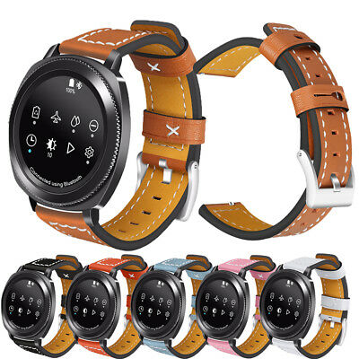 Genuine Leather Replacement Band For Samsung Watch 42mm 46MM Gear S2 Watch Strap