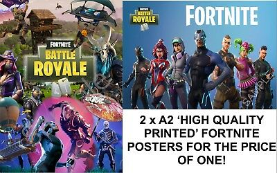 2 x A2 FORTNITE Posters for price of one! DOUBLE PACK JANUARY SALE DEAL