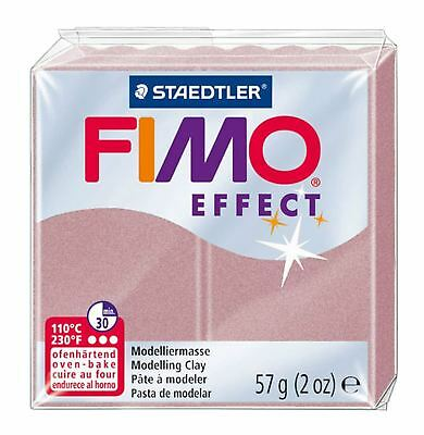 FIMO Effect Polymer Modelling Clay Oven Bake 57g - Rose Peral