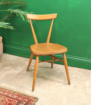 Single Ercol Stacking Chair, Kitchen, Dining, Retro, Mid Century, Model 392