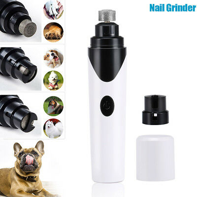 Portable Electric Pet Dog Nail Grinder Rechargeable Nails Trimmer Clipper Puppy