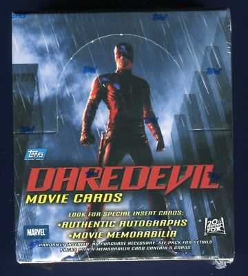 2003 Topps Daredevil Movie Factory Sealed 36 Pack Hobby Box (C)