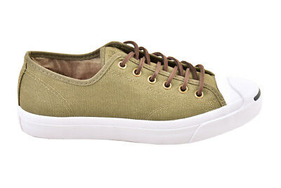 e065b0c5a06b Converse Jack Purcell Canvas OX Surplus Green Trainers Size UK 9 RRP £98  BCF811