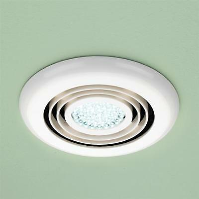 Hib Cyclone Wetroom Inline Fan In White Cool White Led 32600