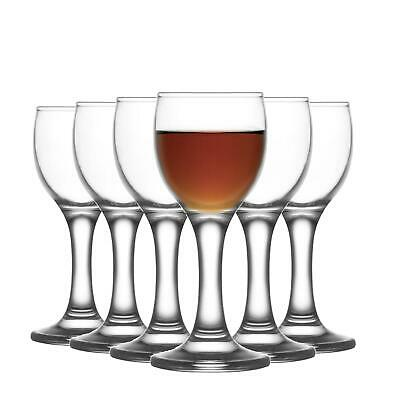 6x Sherry Liqueur Glasses Set LAV Misket Glass Stemmed Schnapps Goblets 55ml