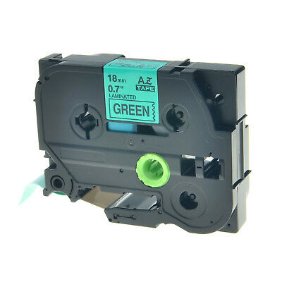"""1PK TZ741 TZe741 Black on Green Label Tape for Brother P-touch PT-1300 18mm 3/4"""""""