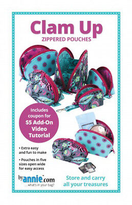 Quilting Sewing Patchwork Clam Up Pattern By Annie New