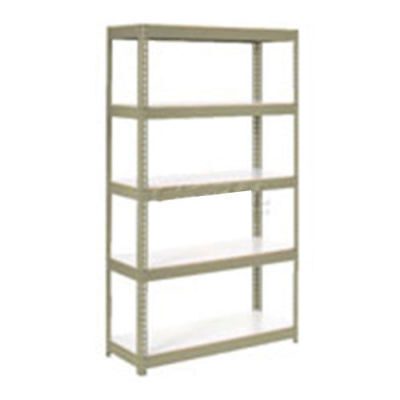 "Boltless Extra Heavy Duty Shelving 48""W x 18""D x 96""H, 5 Shelves, 1500 lbs."