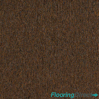 Spice Brown Carpet Tiles 5m2 Box - Domestic Commercial Office Study Flooring