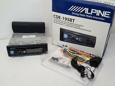 Alpine CDE-195BT Car Single Din Receiver Bluetooth CD Tuner EX-DEMO#286