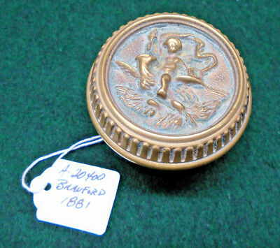 Branford 1881  'ganymede' Pattern Brass Door Knob  (A-20400)  (11311-39)