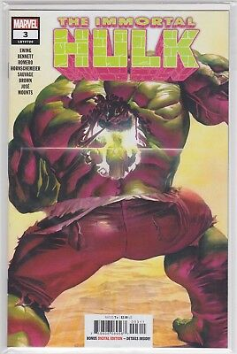 Immortal Hulk #3A 2018 Ross Variant 2nd Dr. Frye Marvel Comics SEE SCAN