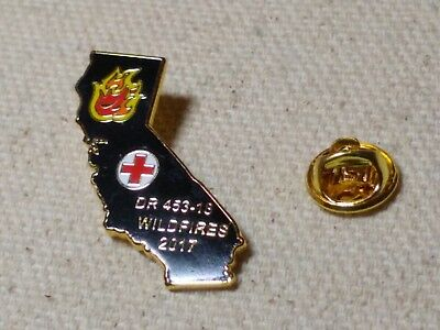2017, DR 453-18 Wildfires American Red Cross lapel pins