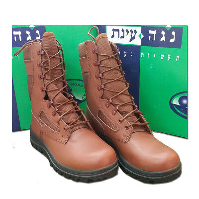 Israeli Combat Boots Brown Military Army Surplus Vibram Made In Usa