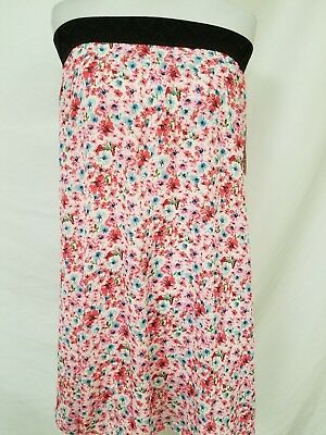 8bad83075b New Lularoe Lola Skirt Small pink cream blue red green flowers Floral  abstract