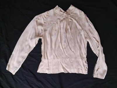 Antique Blouse 100% Antique Silk Cream