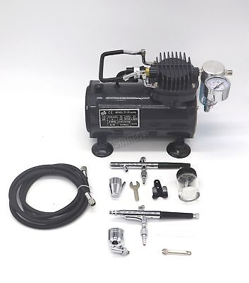 SwitZer Airbrush With Compressor Double Action Air Brush Spray Kit Paint AS18