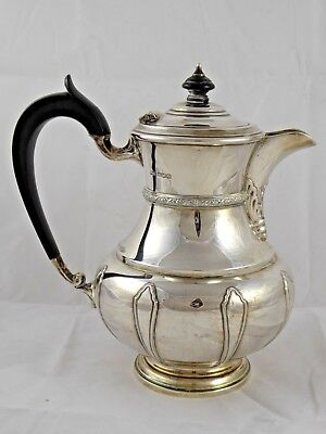 SUPERB QUALITY SOLID STERLING SILVER WATER JUG COFFEE POT FRANK COBB 1928 695 g
