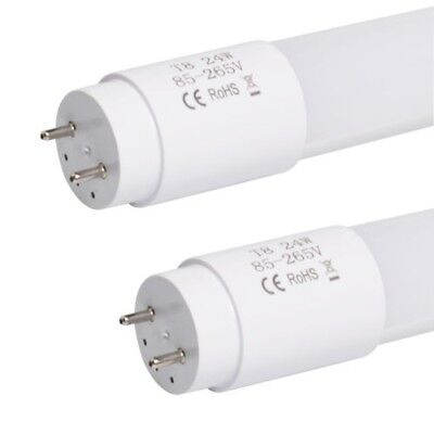 6pcs LED Tube Light Replacement Fluorescent 4FT 24W T8 Day White Energy Saving