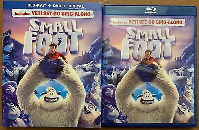 Smallfoot Blu Ray Dvd 2 Disc Set + Slipcover Sleeve Free World Wide Shipping