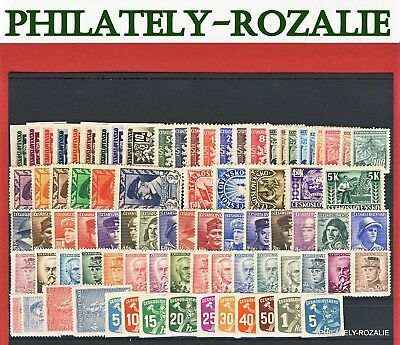 Czechoslovakia Stamps ** Mnh ** Year 1945