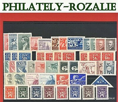 Czechoslovakia Stamps ** Mnh ** Year 1946 And 1947