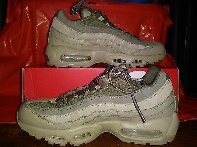 51f87229c41192 New Nike Air Max 95 Premium PRM Men lifestyle sneakers neutral olive 538416- 201